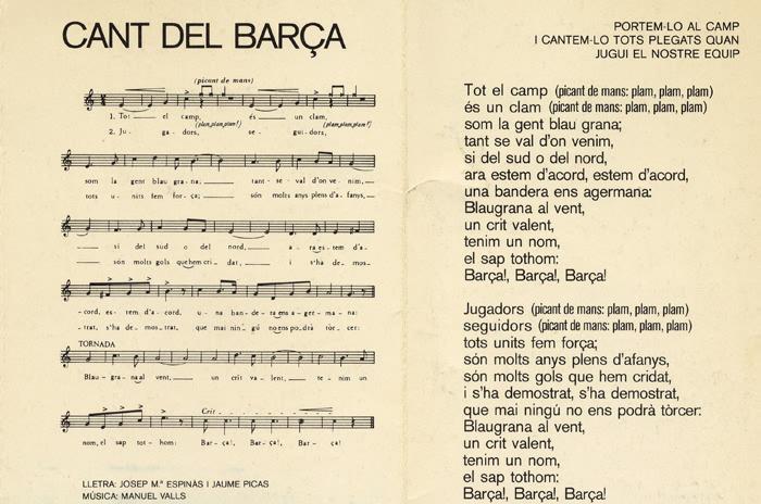 Obecny hymn Barcelony